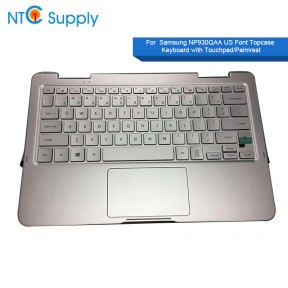BA98-01310A Samsung NP930QAA silver Laptop Palmrest w/ Keyboard + Touchpad & Speakers us with C cover