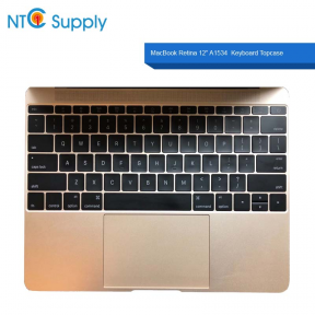 "Apple MacBook Retina 12"" A1534 Early 2015 Keyboard with Trackpad 661-02243 Rose Gold US Keyboard Topcase 613-01195-B"