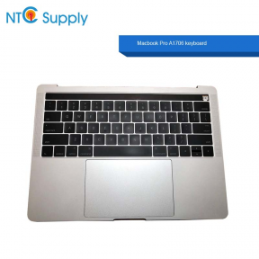 "Macbook Pro 13"" 2016 A1706 Silver Keyboard Battery A1819 touch bar with Trackpad A+ with C Cover Palmrest"